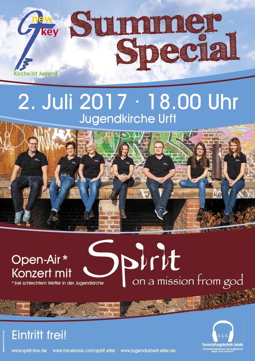 Plakat Sommerkonzert Spirit