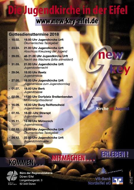 Jugendkirche - New Key - Programm - Jugendmesse - Plakat
