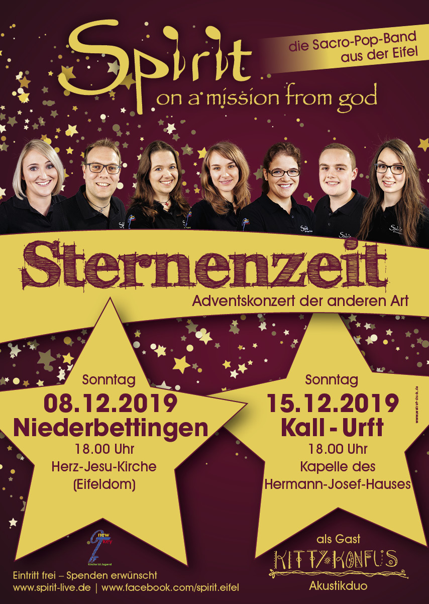 Spirit Adventskonzert 2019 Niederbettingen Urft